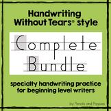 Handwriting Without Tears® style BUNDLE handwriting practice with BONUSES