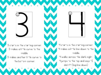 Handwriting Without Tears Number Formation Stories - Aqua Chevron