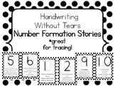 Handwriting Without Tears Number Formation Stories - Black