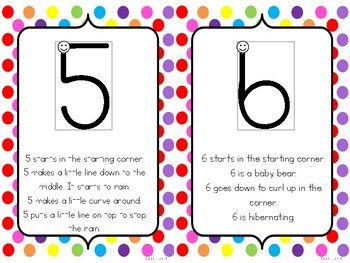Handwriting Without Tears Number Formation Stories - Rainbow Polka Dot