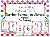 Handwriting Without Tears Number Formation Stories - Rainb