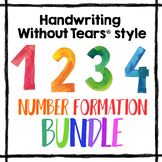 Handwriting Without Tears Number Formation practice worksheets - HWT numbers