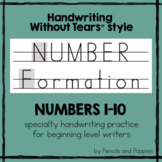 Handwriting Without Tears® style NUMBERS Practice Number W