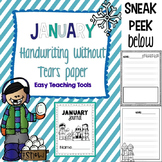 "Handwriting Without Tears Paper ""January"" Edition"