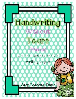 """Handwriting Without Tears Paper """"March"""" Edition"""