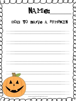 "Handwriting Without Tears Paper ""October"" Edition"