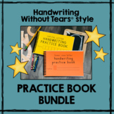 Handwriting Without Tears® style practice BOOKS handwriting practice worksheets