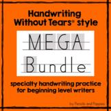 Handwriting Without Tears® style practice + FREE BONUS Handwriting Practice