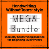 Handwriting Without Tears® style practice and FREE BONUS H