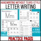 Handwriting Without Tears® Style Letter Practice Pages