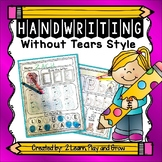 Handwriting Without Tears Style Worksheets - Differentiated Pre-K-1st