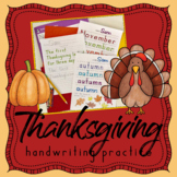 Fall Handwriting Without Tears THANKSGIVING handwriting practice sheets - autumn