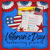 Handwriting Without Tears VETERANS DAY handwriting practice worksheets - Fall