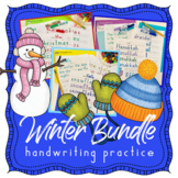 Handwriting Without Tears WINTER BUNDLE - themed handwriting practice