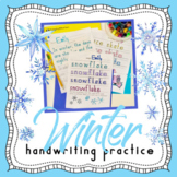Handwriting Without Tears WINTER themed handwriting practice and copy work