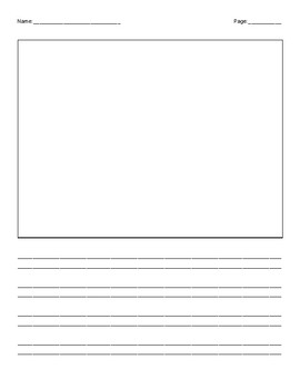 Handwriting Without Tears Writing Paper with Picture Boxes