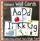 Alphabet Posters: ABC Wall Cards, HWT-Style Font on 3-lines