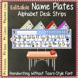 Name Plates - Alphabet Desk Strips: Handwriting-Without-Tears STYLE FONT