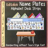 Name Plates - Alphabet Desk Strips: Handwriting-Without-Te