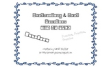 Handwriting Word Work TRY ME Pack Freebie