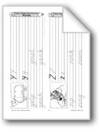Handwriting Words Y-Z and Numbers 1-6 (Week 7)