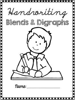 Handwriting Workbook Blends and Digraphs - Whimsy Workshop Teaching