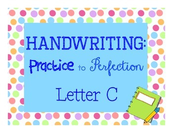 Handwriting Workbook, Letter C