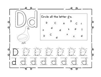 Handwriting Workbook, Letter D