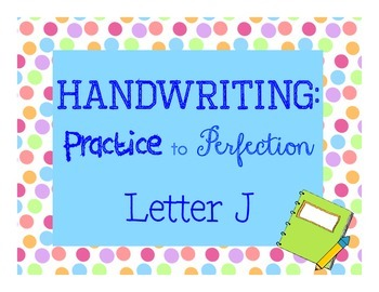 Handwriting Workbook, Letter J