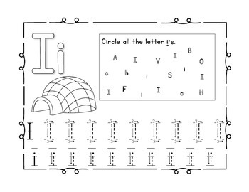 Handwriting Workbook, Letter i