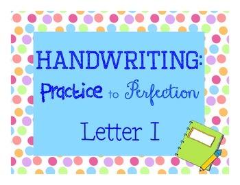 Handwriting Workbook, Letter i