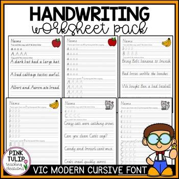 Handwriting Workbook - Victorian Modern Cursive Font | TpT