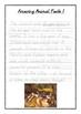 Handwriting Worksheet Bundle: Amazing Animal Facts in D'Nealian Manuscript