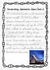 Handwriting Worksheet Bundle: Spectacular Space Facts - De'Nealian Cursive