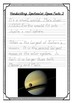 Handwriting Worksheet Bundle: Spectacular Space Facts - De'Nealian Manuscript