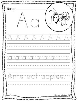 Handwriting Worksheets - Kindergarten & First Grade [[26 pages]]