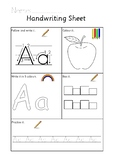 Handwriting Worksheet Letter A