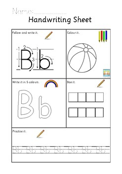 Handwriting Worksheet Letter B