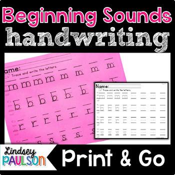 handwriting worksheets by lindsey paulson teachers pay teachers. Black Bedroom Furniture Sets. Home Design Ideas