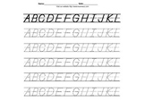 Handwriting Worksheets A-Z 0-9