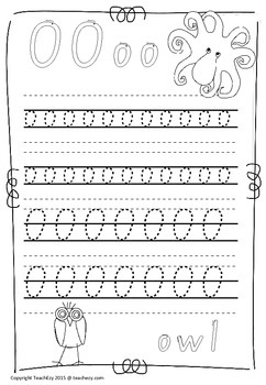 Handwriting Worksheets A to Z South Australia Font