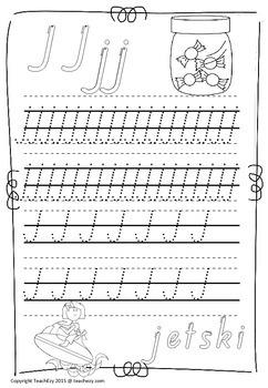 Handwriting Worksheets A to Z Tasmania font