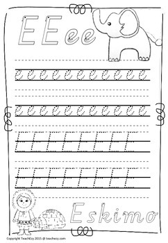 Handwriting Worksheets A to Z Victoria font
