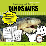 Cursive Handwriting Worksheets for 7 -11 years: Success with Dinosaurs