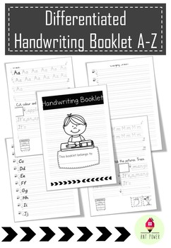 Differentiated Handwriting Booklet letters A-Z