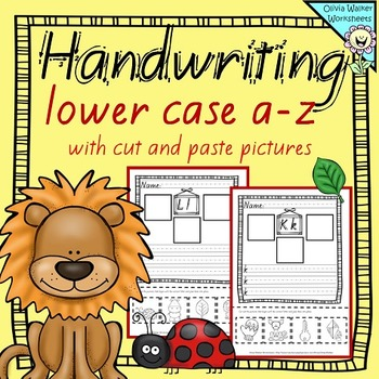 Handwriting Worksheets - New Zealand Font Lower case