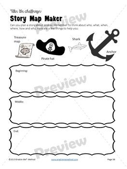 Cursive Handwriting Worksheets for 7 -11 years: Pirates