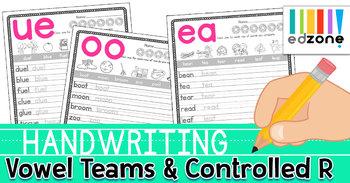 Handwriting Worksheets: Vowel Teams & Controlled R