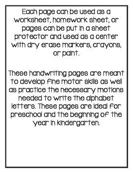 Fine motor/ Tracing Writing and Center Activities