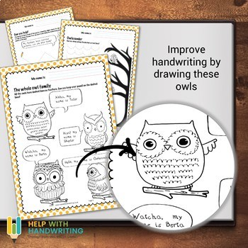 Cursive Handwriting Worksheets for 7 -11 years: Success with Owls